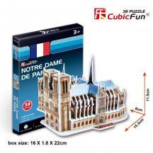 3D kicsi puzzle: párizsi Notre Dame CubicFun 3D épület makettek