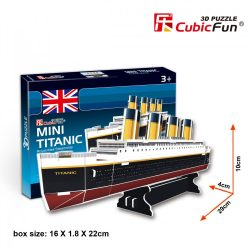 3D small puzzle: Titanic CubicFun vehicle model