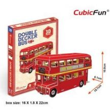 3D small puzzle: Double Decker Bus CubicFun vehicle model