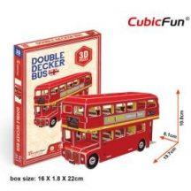 3D kicsi puzzle: Angol emeletes busz CubicFun 3D jármű makettek