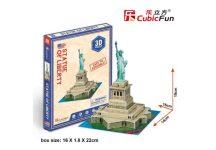 3D kicsi puzzle: Szabadságszobor (USA) CubicFun 3D épület makettek