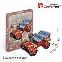 3D kicsi puzzle: Cadillac Model B (1904) CubicFun 3D jármű makettek