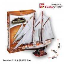 3D puzzle: Two-Masted Scooner CubicFun 3D vehicle models