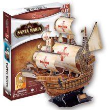 3D puzzle: Santa Maria CubicFun 3D hajó makettek