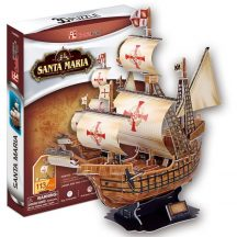 3D puzzle: Santa Maria CubicFun 3D ship model