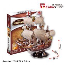 3D puzzle: May Flower CubicFun 3D ship model