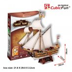 3D puzzle: Yacht Mary CubicFun 3D vehicle models