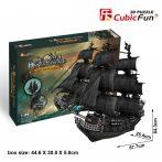 3D professional puzzle: Queen Anne's Revenge CubicFun ship model