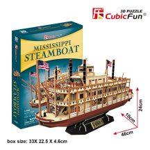 3D puzzle: Mississippi gőzhajó CubicFun 3D hajó makettek