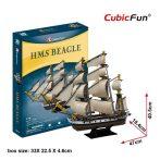 3D puzzle: HMS Beagle CubicFun 3D hajó makettek