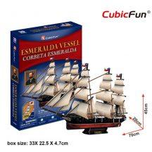 3D professional puzzle: Esmeralda Vessel CubicFun ship model