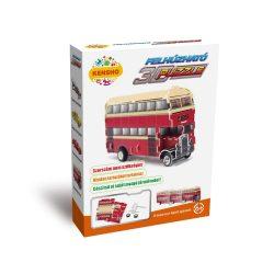3D puzzle: Felhúzható emeletes busz - jármű makettek Hope Winning