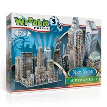 Wrebbit 3D professional puzzle: New York Collection- Midtown-East 3D famous building models