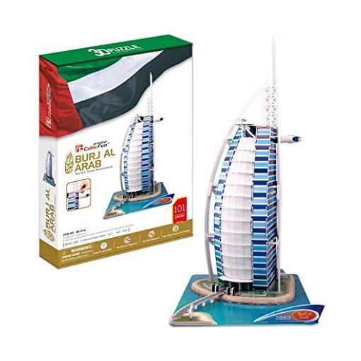 3D profi puzzle: Burdzs Al Arab (Burj Al Arab) cubicfun 3D épület makett