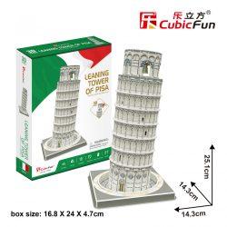 3D puzzle: Pisai ferde torony CubicFun 3D híres épület makettek