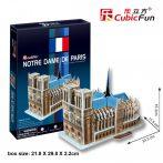 3D puzzle: párizsi Notre Dame CubicFun 3D épület makettek