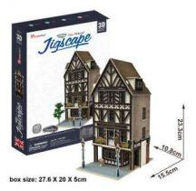 3D puzzle: Tudor Restaurant (UK) CubicFun 3d híres épület makettek