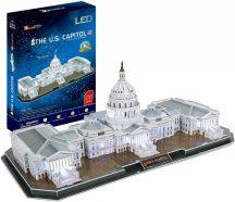 3d LED világítós puzzle: The U.S. Capitol (USA) Cubicfun LED 3D épület makettek