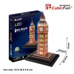 3d LED lighting puzzle: Big Ben (UK) Cubicfun 3D building models