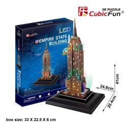 3d LED világítós puzzle: Empire State Building (USA) Cubicfun épület makett