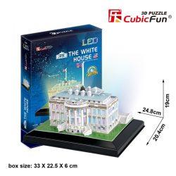 3d LED lighting puzzle: White House (USA) Cubicfun 3D building models