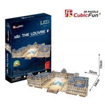 3d LED világítós puzzle: The Louvre  Cubicfun 3D épület makettek