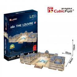 3d LED lighting puzzle: The Louvre Cubicfun 3D building models