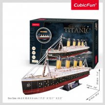 3D professional puzzle:Titanic CubicFun ship model with LED lighting