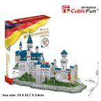 3D puzzle: Neuschwanstein kastély Cubicfun 3D épület makettek