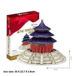 3D puzzle: The Temple of Heaven Cubicfun 3D épület makettek