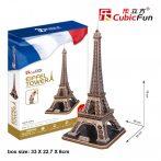3D profi puzzle: Eiffel-torony CubicFun 3D híres épületek