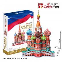 3D profi puzzle: Boldog Vazul-székesegyház CubicFun 3D híres épületek
