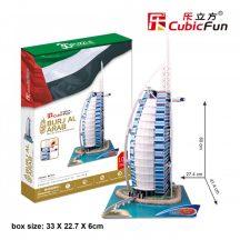 3D profi puzzle: Burdzs Al Arab (Dubai) 3D épület makett