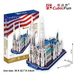 3D puzzle: St. Patrick's Cathedral Cubicfun 3D building models