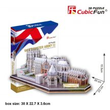3D puzzle: Westminster apátság CubicFun 3D híres épület makettek