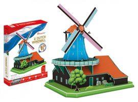 3D puzzle: Holland szélmalom CubicFun 3D híres épület makettek
