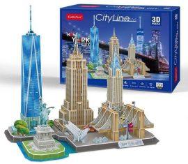 3D puzzle: CityLine New York City CubicFun 3D famous buildings