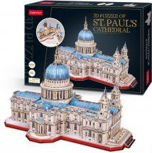 3d profi puzzle: Szent Pál katedrális (UK) CubicFun 3D híres épület maket