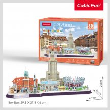 3D puzzle: CityLine Warsó CubicFun 3D híres épület makettek
