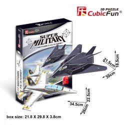 3D puzzle: F117 Nighthawk & F18 Hornet vadászgép CubicFun katonai jármű makettek