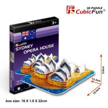 3D small puzzle: Sydney Opera House CubicFun building models