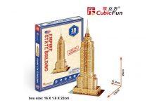 3D kicsi puzzle: Empire State Building CubicFun 3D épület makettek