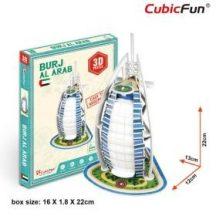 3D kicsi puzzle: Burdzs Al Arab CubicFun 3D épület makettek