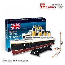3D kicsi puzzle: Titanic CubicFun 3D jármű makettek
