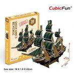 3D small puzzle: Queen Anne's Revenge CubicFun vehicle model