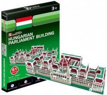 3D kicsi puzzle: Magyar Parlament épülete CubicFun 3D híres magyar épület makettek