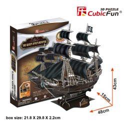 3D puzzle: The Queen Annes Revenge CubicFun ship model
