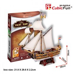 3D puzzle: Yacht Mary CubicFun 3D jármű makettek