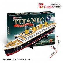 3D puzzle: Titanic CubicFun 3D jármű makettek
