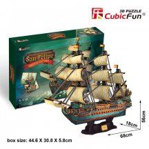 3D profi puzzle: San Felipe CubicFun 3D hajó makettek